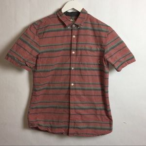 Vans Men's Short Sleeve Botton Up Shirt Large